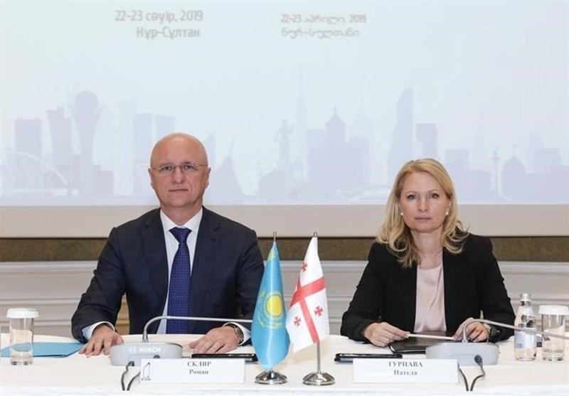 گسترش همکاری های مالی و تجاری بین قزاقستان و گرجستان