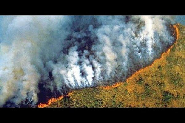دعوای رهبران برزیل و فرانسه درباره آتش سوزی آمازون