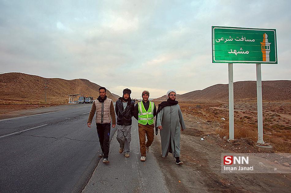 پیاده تا حریم امام مهربانی ها ، روایتی از دلدادگی دانشجو زائر مشهد الرضا(ع)