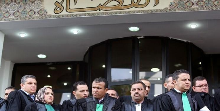 تقابل نیروهای ضد شورش الجزائر با قضات اعتصاب کننده