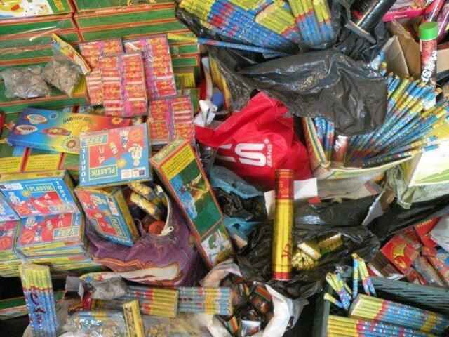 کشف بیش از 44 هزار انواع مواد محترقه در شهرستان البرز